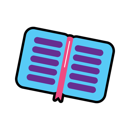 notebook open icon image vector illustration design