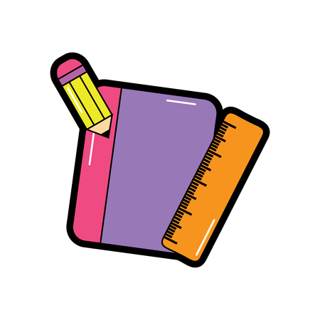 notebook with pencil school supplies icon image vector illustration design Illustration