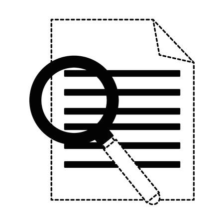 虫眼鏡ベクトルイラストデザインのカリキュラムヴィテー  イラスト・ベクター素材