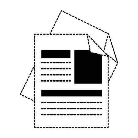 Curriculum vitae geïsoleerde pictogram vector illustratie ontwerp Stockfoto - 90671978