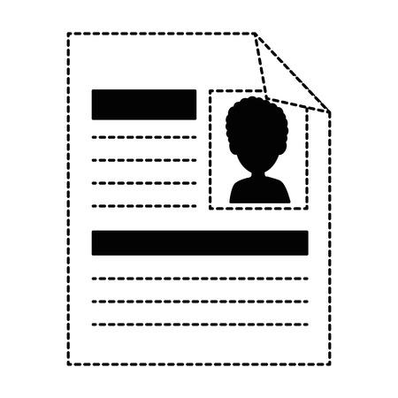 Curriculum vitae geïsoleerde pictogram vector illustratie ontwerp Stockfoto - 90672089