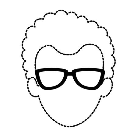 젊은이 머리 아바타 캐릭터 벡터 일러스트 디자인 일러스트