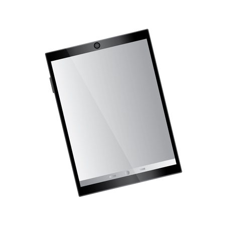 tablet with reflective screen device icon image vector illustration design Stock fotó - 90662604