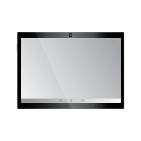 tablet with reflective screen device icon image vector illustration design Stock fotó - 90662605