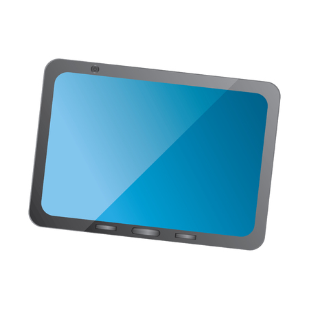 tablet with reflective screen device icon image vector illustration design Фото со стока - 90662606