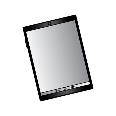 tablet with reflective screen device icon image vector illustration design Фото со стока - 90662817