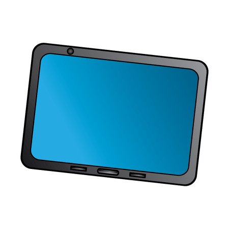 tablet with reflective screen device icon image vector illustration design