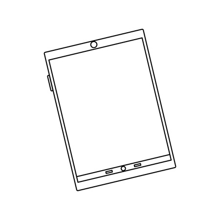 tablet device icon image vector illustration design