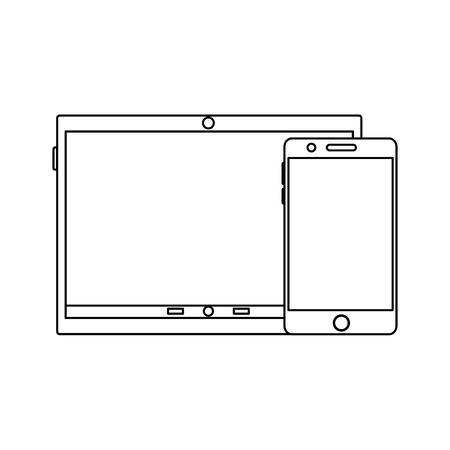 タブレットデバイスアイコン画像ベクトルイラストデザイン