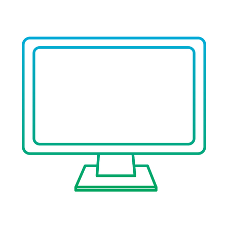 computer monitor icon image vector illustration design  blue to green ombre Illustration