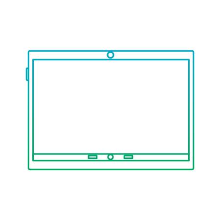태블릿 장치 아이콘 이미지 벡터 일러스트 디자인 파란색으로 녹색 ombre