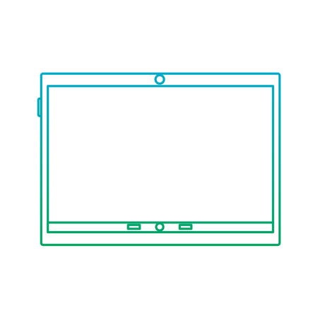 tablet device icon image vector illustration design  blue to green ombre Фото со стока - 90665651