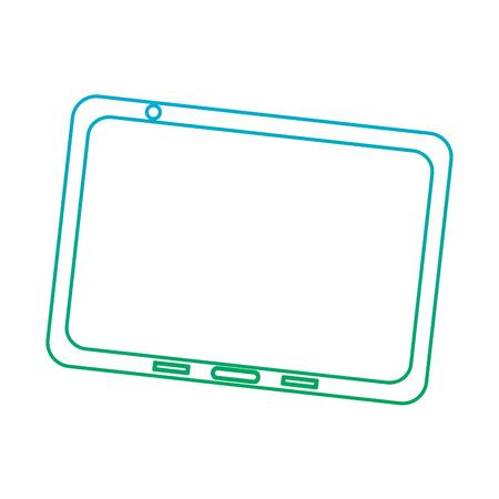 タブレットデバイスアイコン画像ベクトルイラストデザイン青から緑のオンブレ