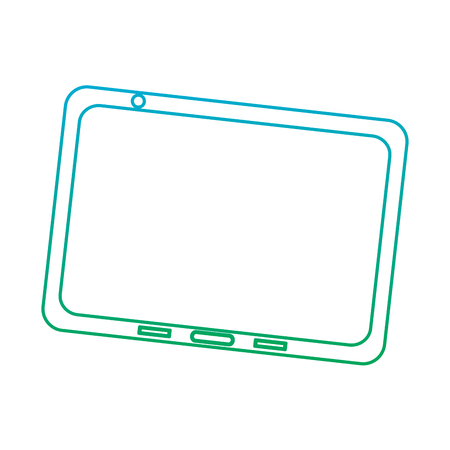 tablet device icon image vector illustration design  blue to green ombre