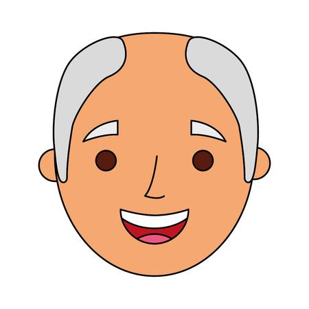 祖父ベクトルイラストの顔老人プロフィールアバター 写真素材 - 90672311