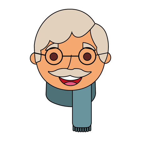 祖父ベクトルイラストの顔老人プロフィールアバター 写真素材 - 90672332