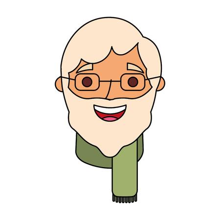 祖父ベクトルイラストの顔老人プロフィールアバター 写真素材 - 90672335
