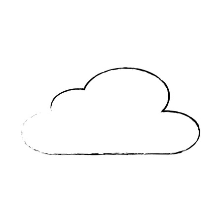 cloud sky climate meteorology design sketch vector illustration