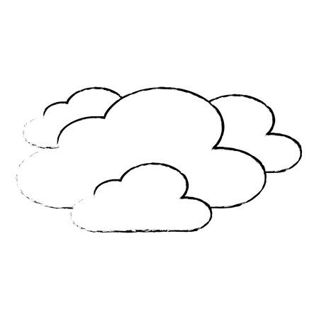 雲天気空夜景スケッチベクトルイラスト