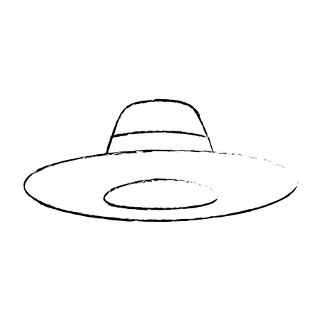 hat accessory fashion object vintage design image sketch vector illustration