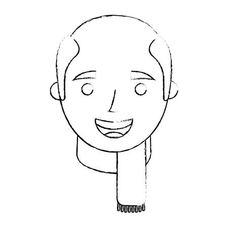 おじいちゃんスケッチベクトルイラストの顔老人プロフィールアバター