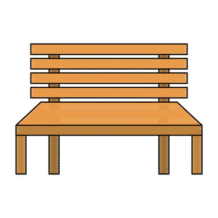 나무 벤치 거리 위안 장식 벡터 일러스트 레이션 스톡 콘텐츠 - 90672606