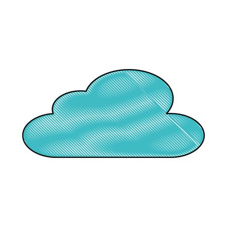 구름 하늘 기후 기상학 디자인 벡터 일러스트 레이션