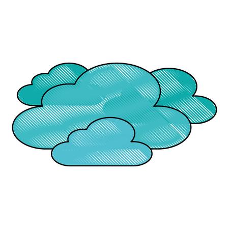 wolken weer hemel nacht scène vector illustratie Vector Illustratie
