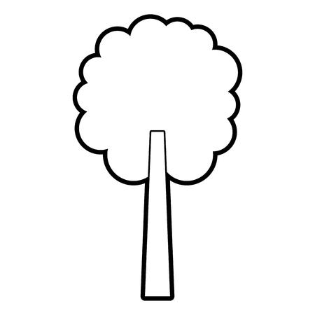 tree natural botanical ecology forest vector illustration outline