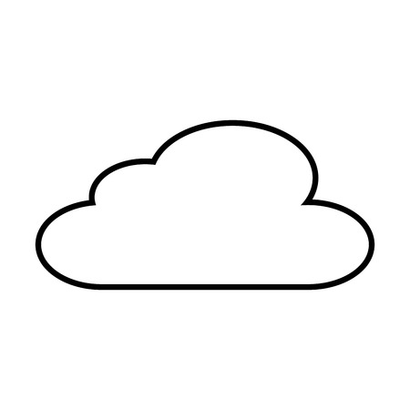 cloud sky climate meteorology design vector illustration outline