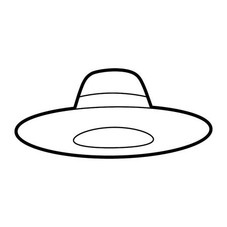 hat accessory fashion object vintage design image vector illustration outline Illustration