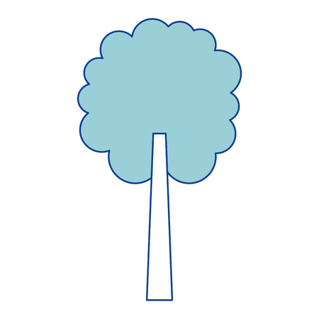 tree natural botanical ecology forest blue vector illustration