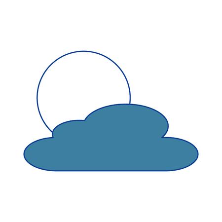 雲の日自然天気シーン 青ベクトルイラスト  イラスト・ベクター素材