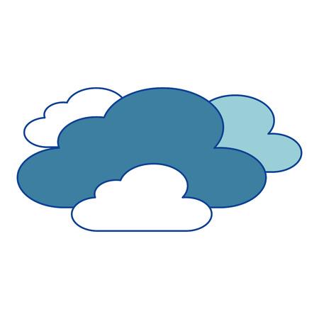 雲天気空夜景 青ベクトルイラスト