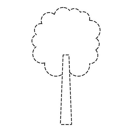 tree natural botanical ecology forest vector illustration sticker