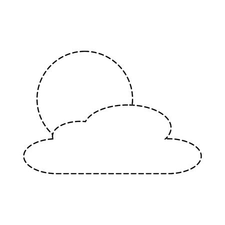 cloud sun day nature weather scene vector illustration sticker Illusztráció