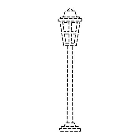 公園街灯ライトガラスヴィンテージ装飾ベクトルイラストステッカー  イラスト・ベクター素材