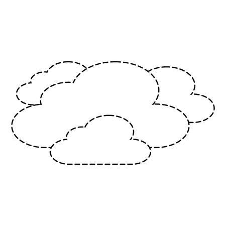 雲天気空シーン自然ベクトルイラストステッカー  イラスト・ベクター素材