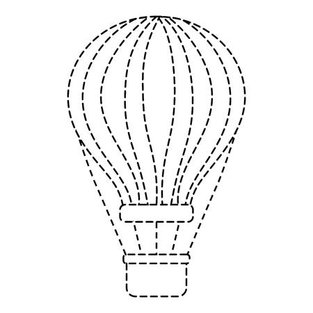 airballoon with basket recreation adventure vector illustration sticker Stock fotó - 90691589