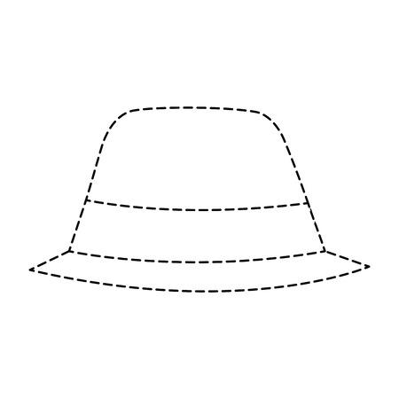 hat accessory fashion object vintage design image vector illustration sticker