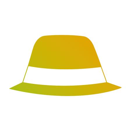 hat accessory fashion object vintage design image vector illustration Illustration