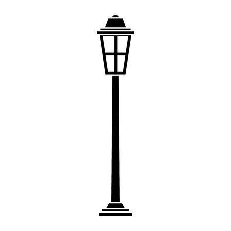park street lamp light glass vintage decoration vector illustration 矢量图像