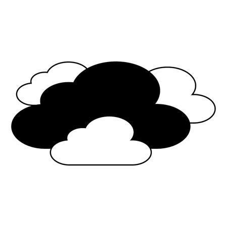 雲天気空シーン自然ベクトルイラスト