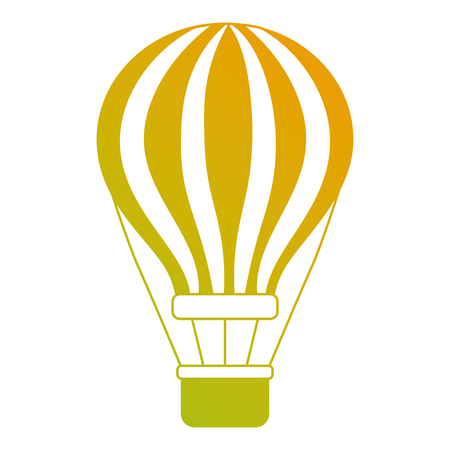 airballoon with basket recreation adventure vector illustration Imagens - 90692331