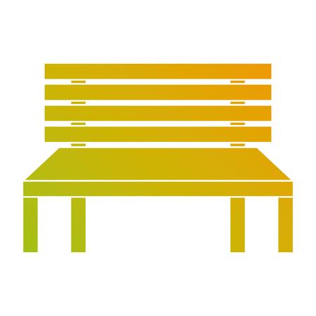 wooden bench street comfort decorative vector illustration Illustration