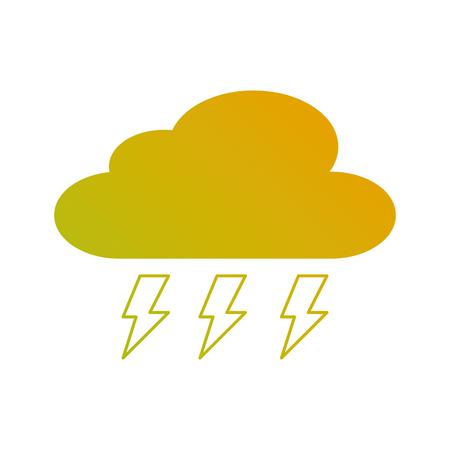 cloud weather with thunder bolt storm vector illustration Illustration