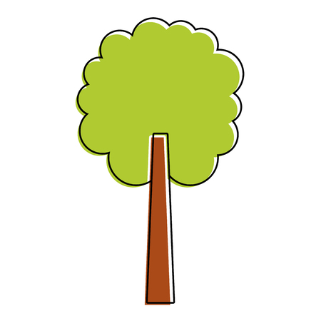tree natural botanical ecology forest vector illustration