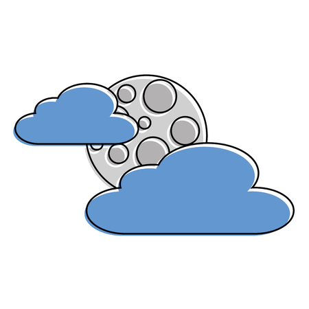 cloud moon night sky nature scene vector illustration Reklamní fotografie - 90691692