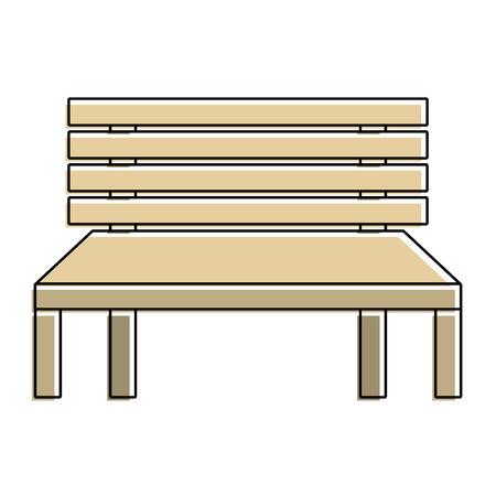 Ilustração em vetor decorativo banco de madeira rua conforto Foto de archivo - 90690447