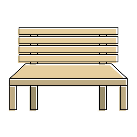 wooden bench street comfort decorative vector illustration Ilustrace